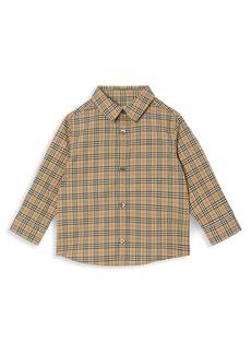 Burberry Baby Boy's & Little Boy's Check Stretch Shirt