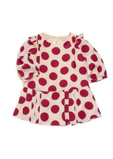 Burberry Baby Girl's & Little Girl's Mini Lenka Polka-Dot Silk Dress