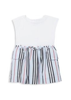 Burberry Baby's & Little Girl's IG2 Ramona Striped Pleated Dress