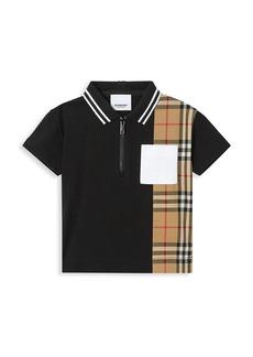 Burberry Baby's & Little Kid's Mini Mathew Vintage-Check Panel Polo Shirt