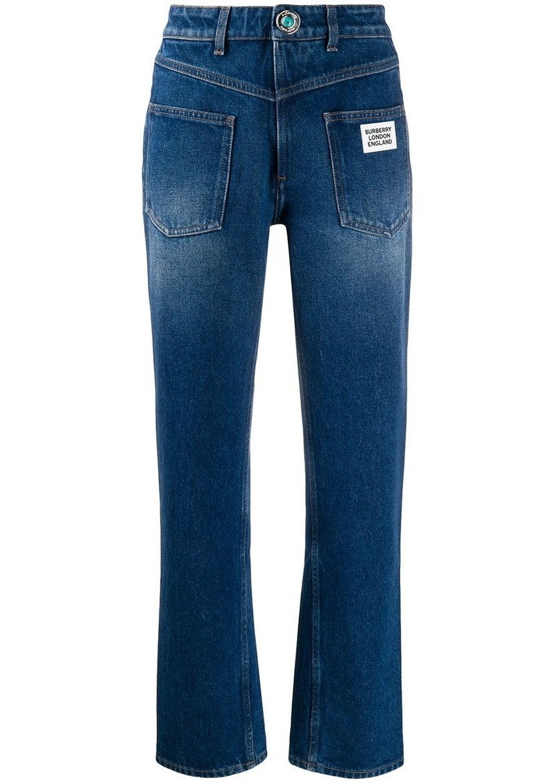 Burberry back-to-front straight-leg jeans