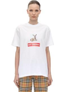 Burberry Bambi Print Cotton Jersey T-shirt