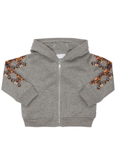 Burberry Bear Print Cotton Sweatshirt Hoodie