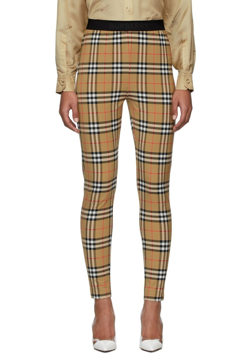 Burberry Beige Belvoir Leggings