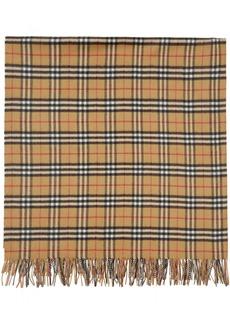Burberry Beige Cashmere Vintage Check Poncho