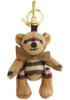 Burberry Beige Cashmere Vintage Check Thomas Bear Keychain
