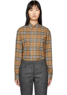 Burberry Beige Check Jameson Shirt