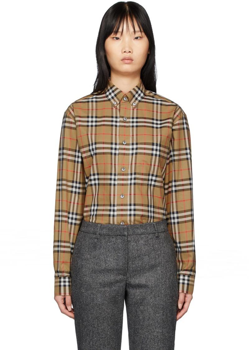 Burberry Beige Check Jameson Shirt