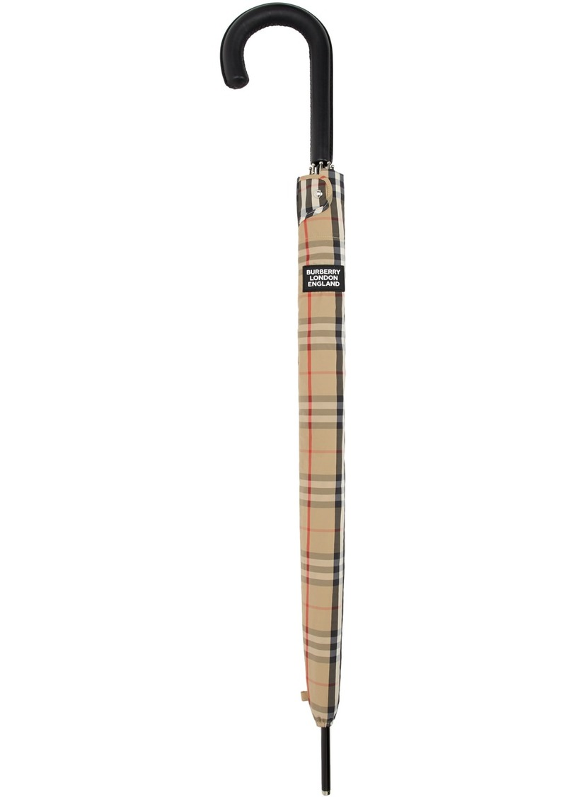 Burberry Beige Check Walking Umbrella