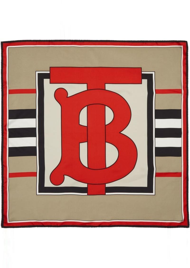 Burberry Beige Heritage Stripe Scarf
