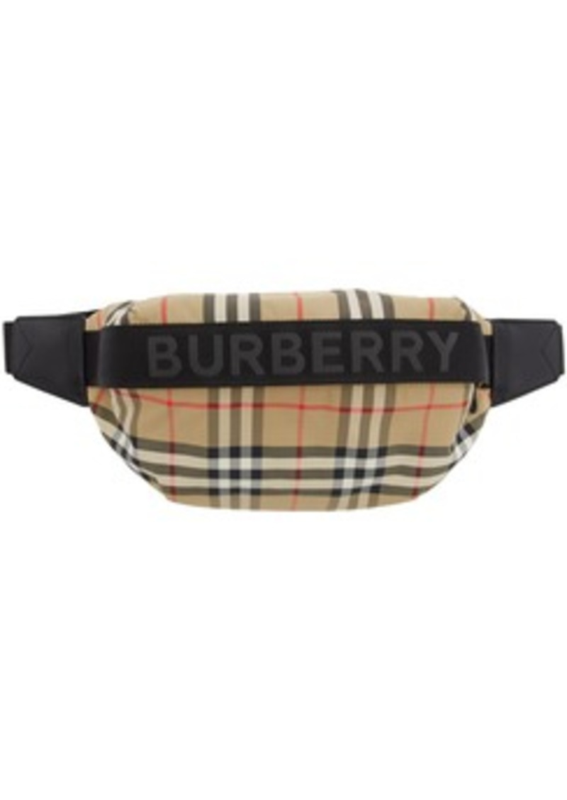 Burberry Beige Medium Check Sonny Pouch
