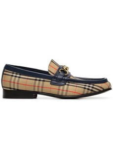 Burberry beige Moorley checked loafers