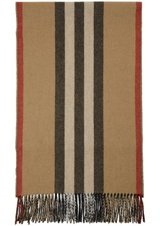 Burberry Beige Reversible Icon Stripe Scarf