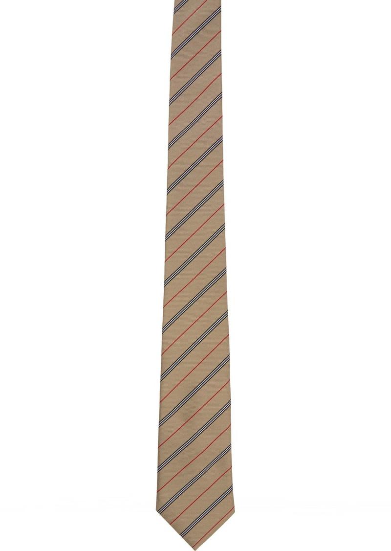 Burberry Beige Silk Manston Tie