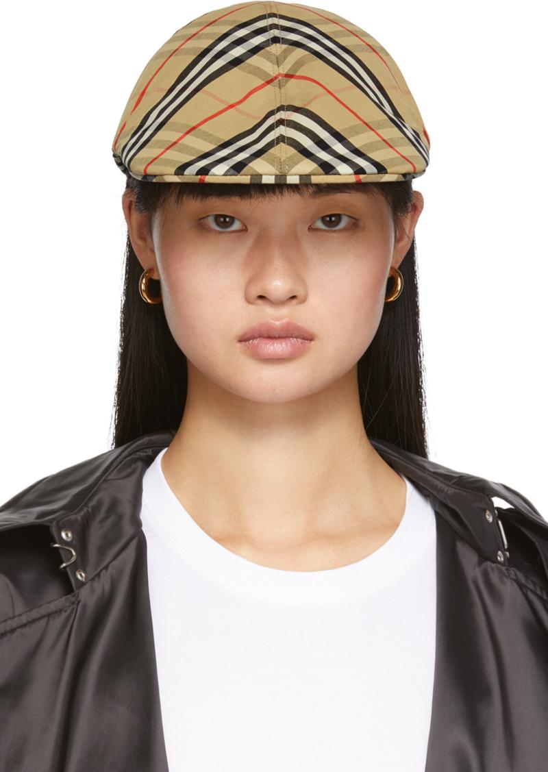 Burberry Beige Vintage Check Flat Cap