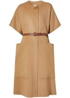 Burberry belted cashmere cape