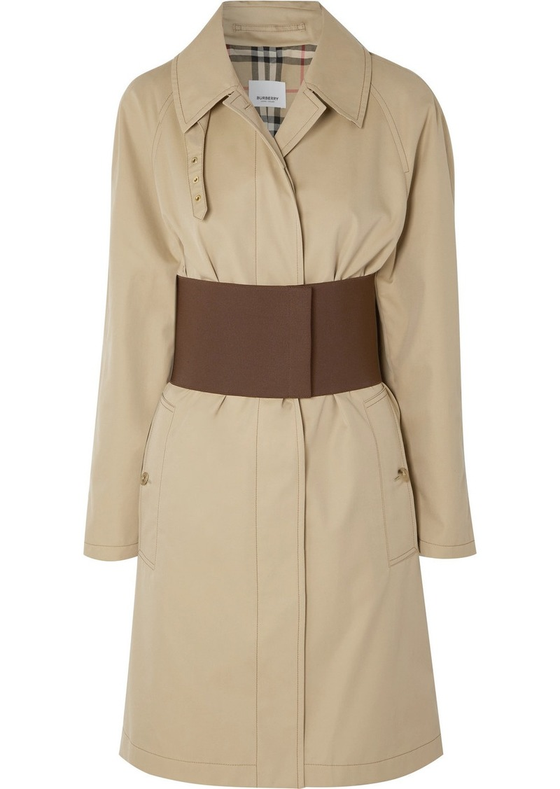 Burberry Belted Cotton-gabardine Trench Coat