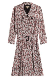 Burberry Belted Silk Shirtdress