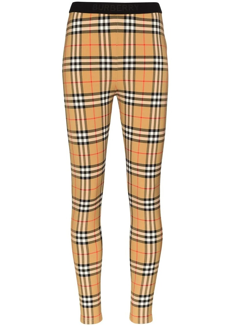 Burberry Belvoir antique check leggings