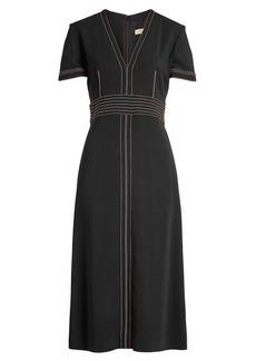 Burberry Benni Dress with Contrast Stitching