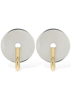 Burberry Big Key Disc Earrings