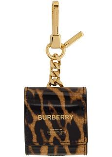 Burberry Black & Brown Earphone Keychain Case