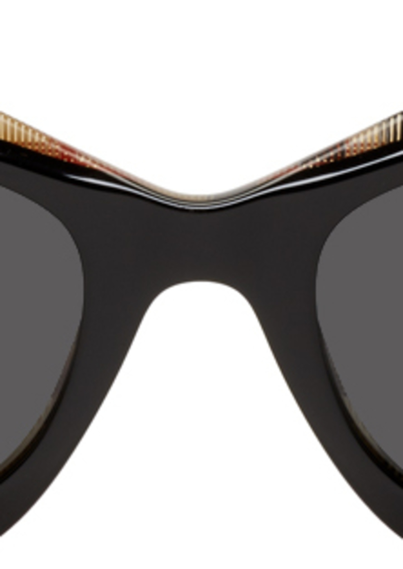 Burberry Black & Check Butterfly Sunglasses