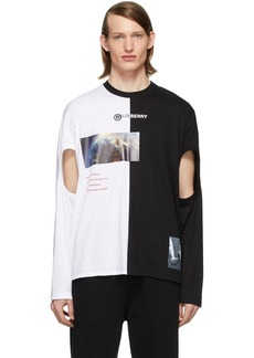 Burberry Black & White Montage Cut-Out T-Shirt