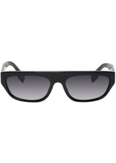 Burberry Black Acetate Rectangular Brow Sunglasses