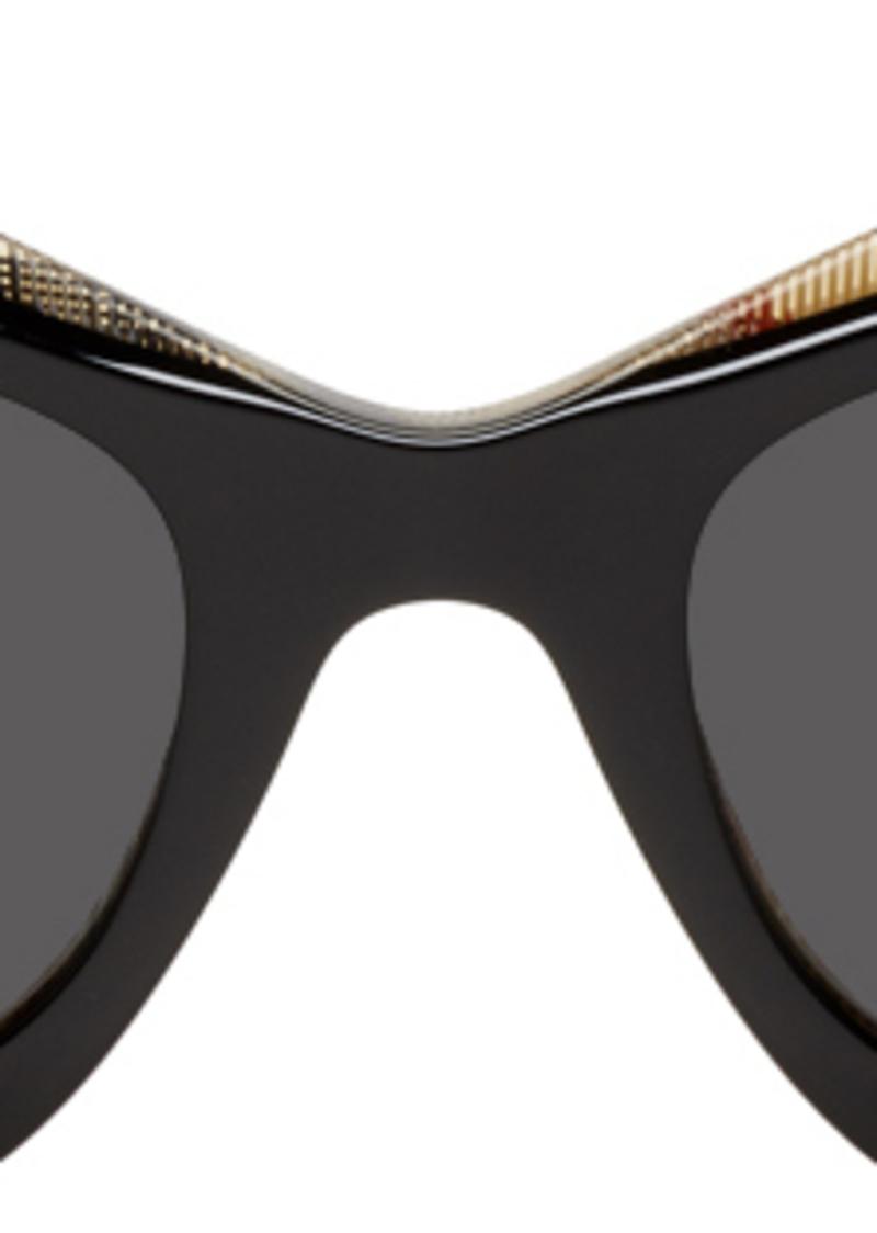 Burberry Black Archive Check Sunglasses