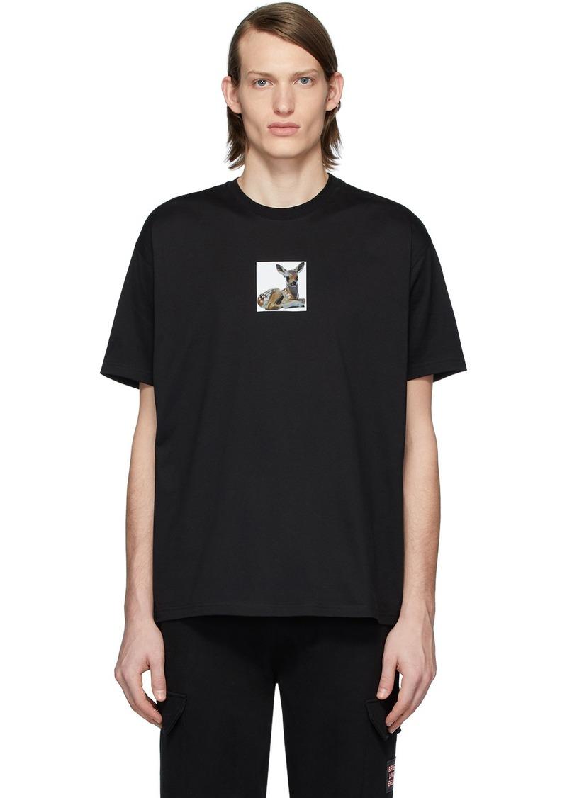 Burberry Black Deer T-Shirt
