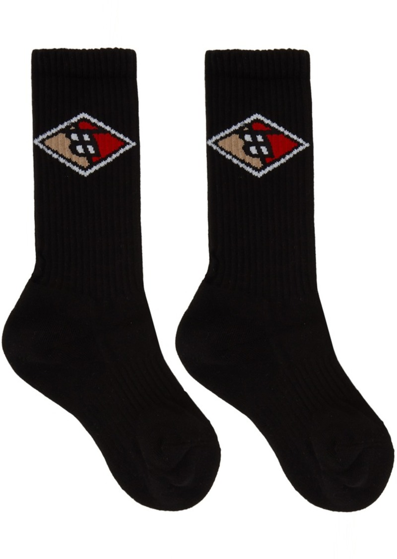 Burberry Black Diamond Logo Socks