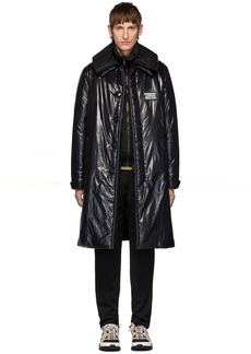 Burberry Black Down Car Coat