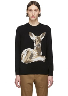 Burberry Black Fawn Crewneck Sweater