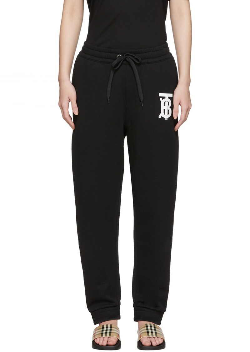 Burberry Black Gresham Lounge Pants