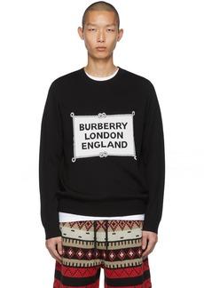 Burberry Black Intarsia Trentley Sweater