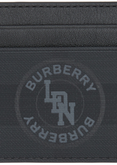 Burberry Black London Check Sandon Card Holder