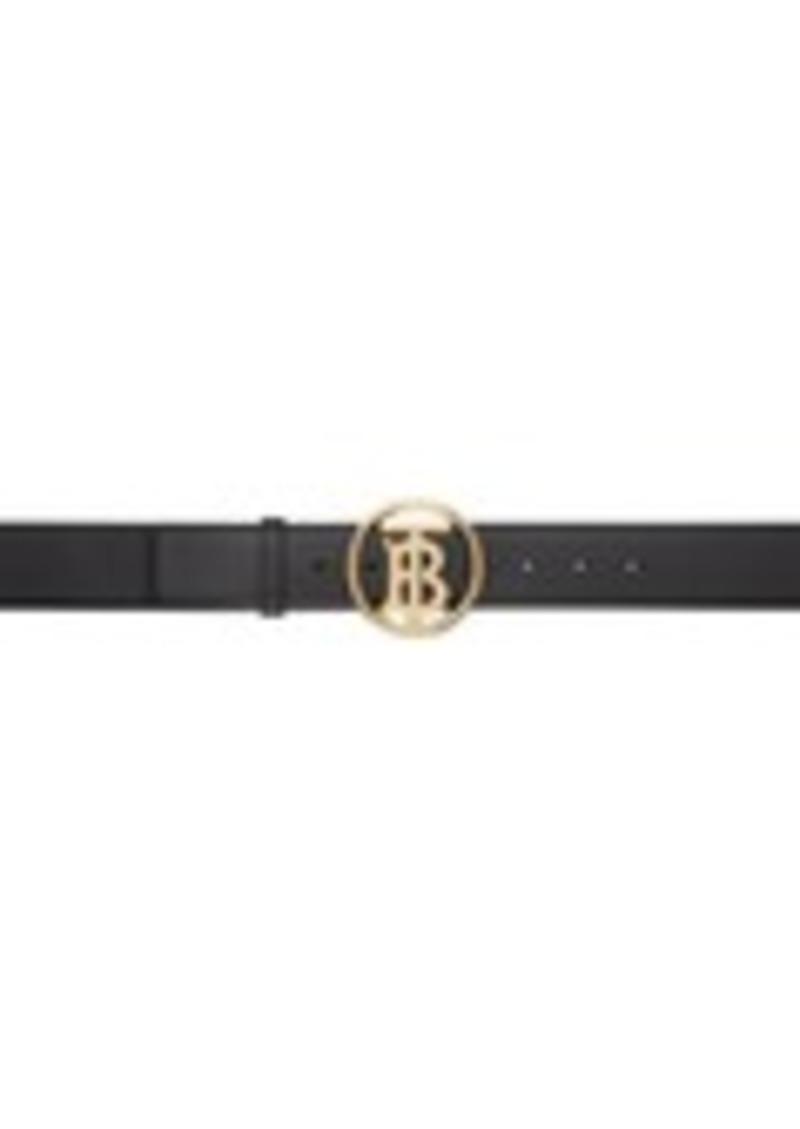 Burberry Black Monogram Motif Belt