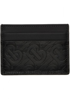 Burberry Black Monogram Sandon Card Holder