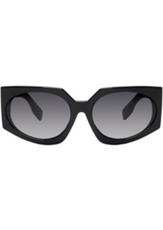 Burberry Black Oversized Wrap Sunglasses
