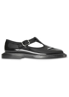 Burberry black patent leather T-bar shoes