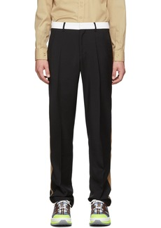 Burberry Black Stripe Tailored Trousers