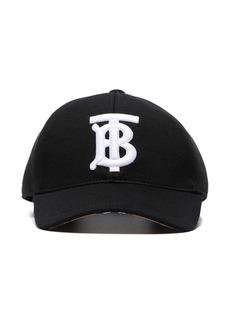 Burberry black TB logo embroidered cotton baseball cap