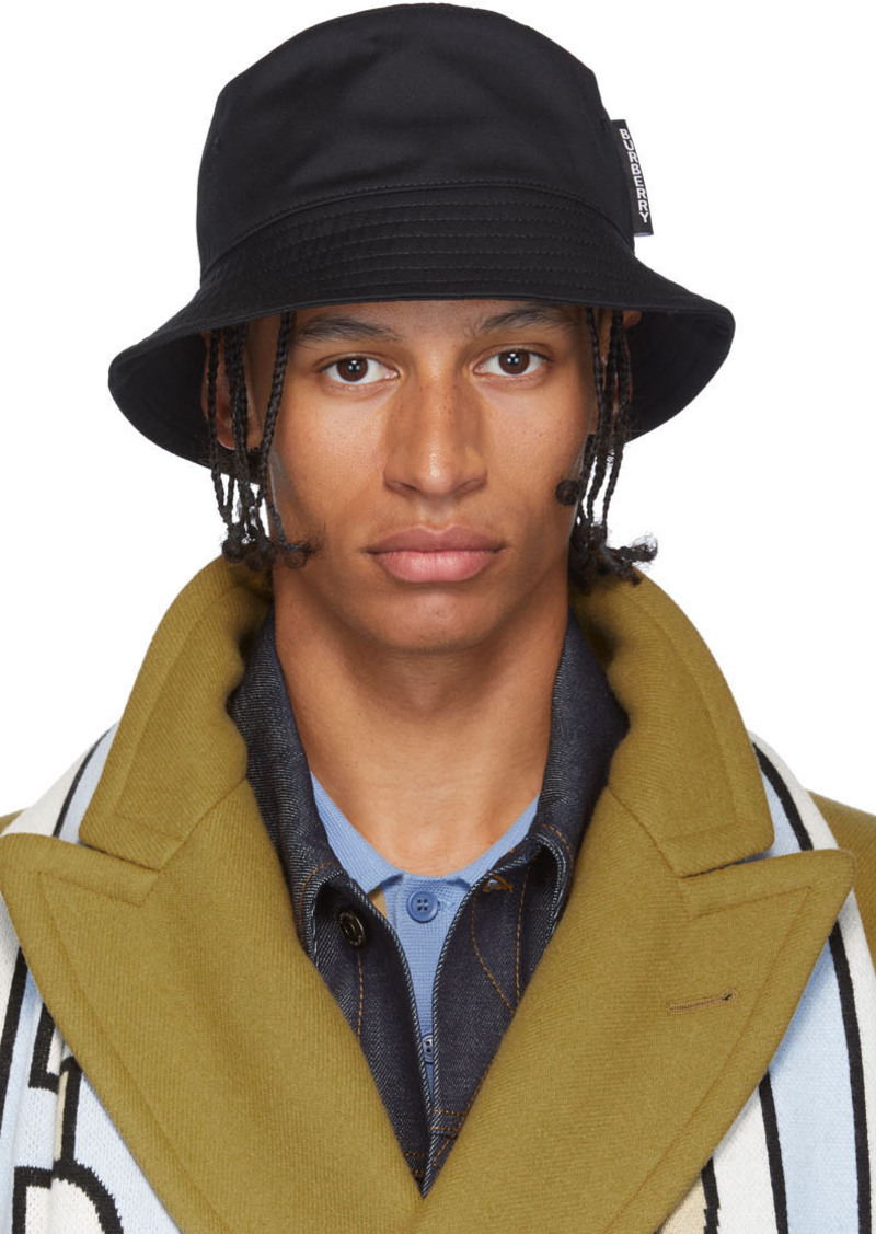 Burberry Black Twill Bucket Hat
