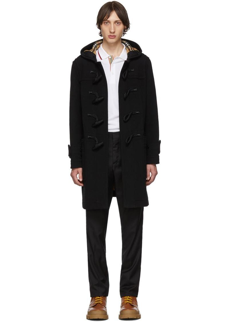 Burberry Black Wool Greenwich Duffle Coat
