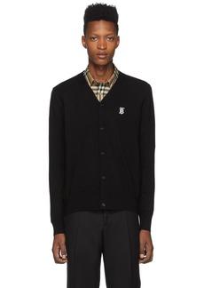 Burberry Black Wool Monogram Dillon Cardigan