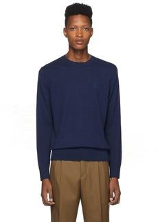 Burberry Blue Cashmere Monogram Sweater
