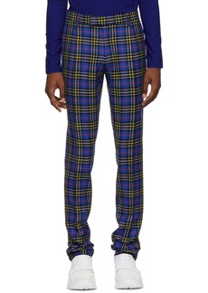 Burberry Blue Check Soho Trousers