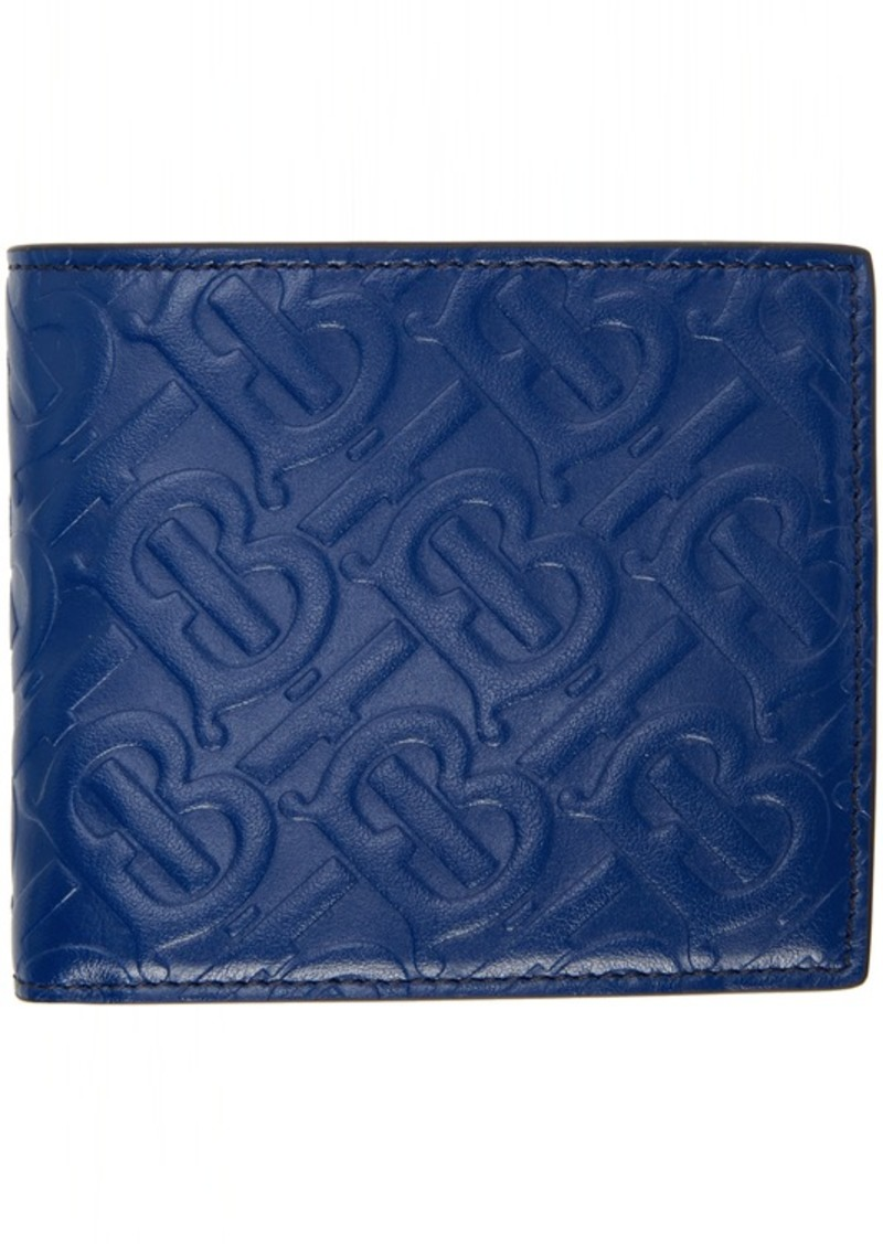 Burberry Blue Monogram International Wallet
