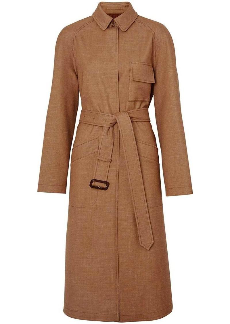 Burberry Bonded Wool Silk Mohair Linen Car Coat